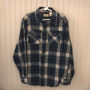 Boys LLBean flannel button down shirt